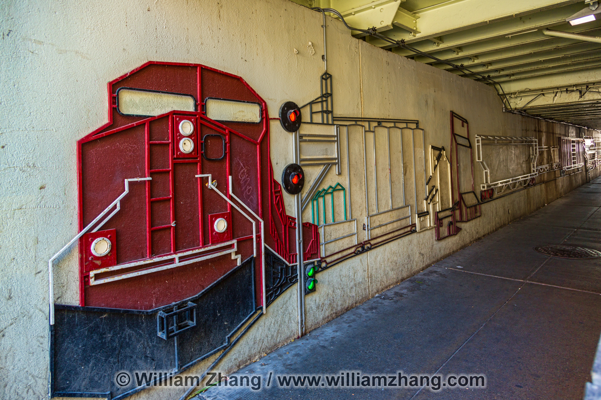 freight train art on wall in calgary view full size