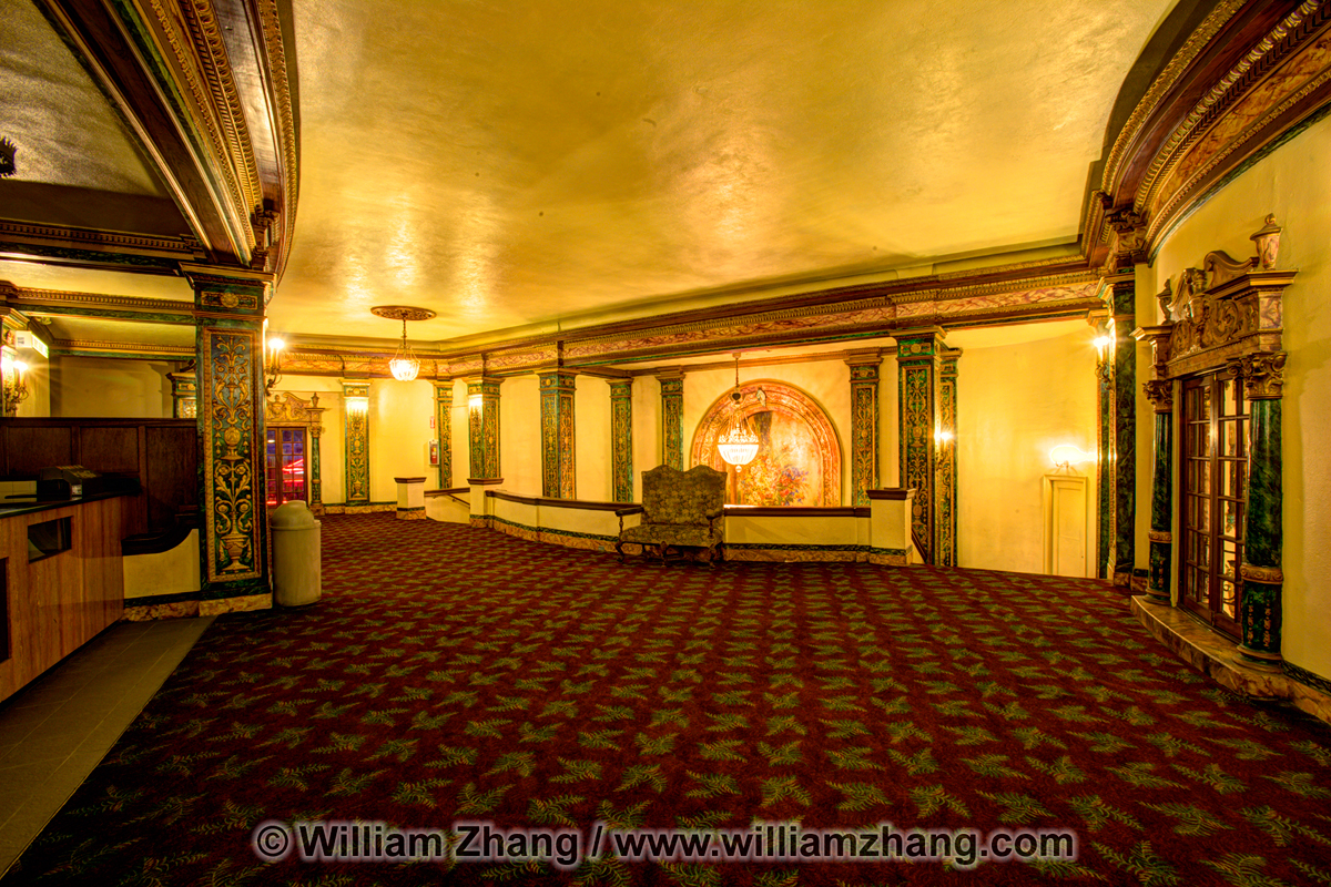 Art Deco interior of Grand Lake Theater. Oakland, CA