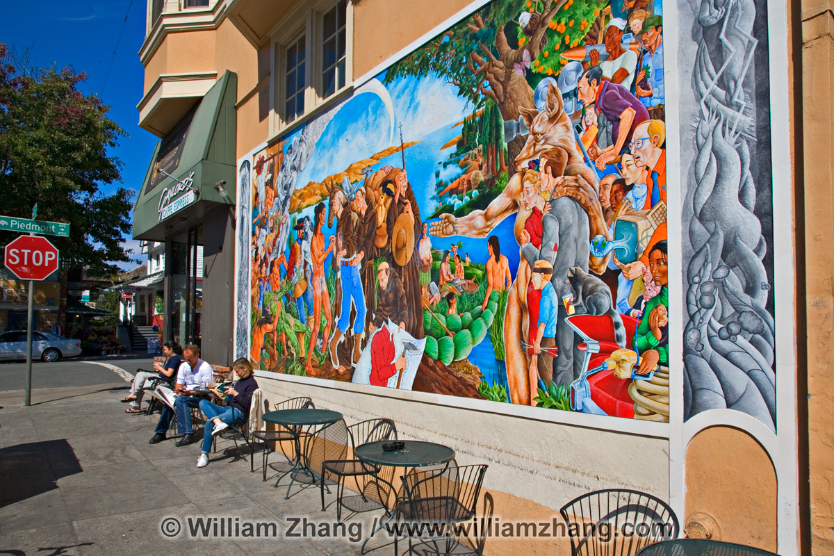 Piedmont avenue oakland localwiki for California mural