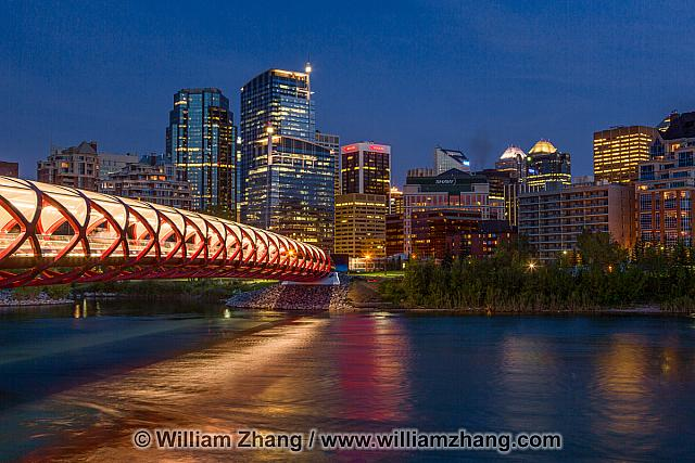 Peace Bridge over the Bow River in Calgary opened in 2012