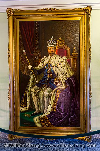 Portrait of King George V at Alberta Legislative Building
