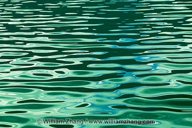 Patterns on waters of Pyramid Lake in Jasper National Park