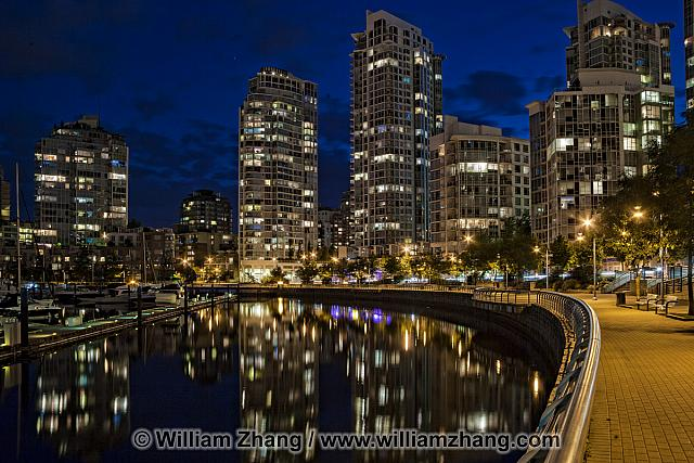 False Creek reflections in Vancouver. BC, Canada