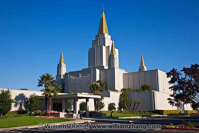 LDS temple and landscaping. Oakland, CA