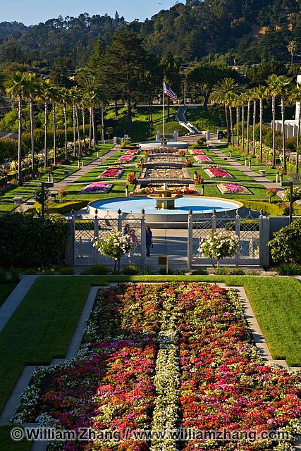Landscaped grounds at LDS temple. Oakland, CA
