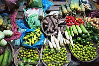 Variety of vegetables and fruit for sale. Siem Reap