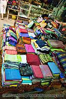 Scarves for sale at market. Siem Reap