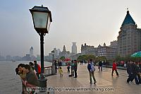 People along the Bund. Shanghai