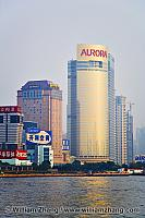 Huangpu River and Pudong highrise buildings. Shanghai