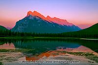 Mount Rundle at sunset at Vermilion Lakes. Banff, Alberta