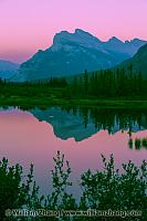 Mount Rundle at twilight at Vermilion Lakes. Banff, Alberta