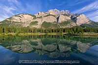 Reflection of Cascade Mountain in Cascade Ponds. Banff, Alberta