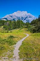 Trail at Johnson Lake in Banff. Alberta, Canada