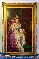 Portrait of Queen Mary in Alberta Legislature Building. Edmonton