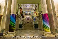 Lobby and staircase of Alberta Legislative Building. Edmonton