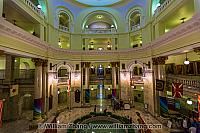 Central area under dome of Alberta Legislative Building. Edmonto