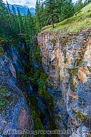 Walls of Maligne Canyon in Jasper National Park. Alberta