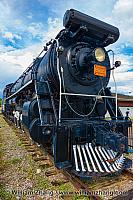 Canadian National engine #6015 at Jasper train station. Alberta