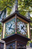 Gastown Steam Clock in Vancouver. British Columbia, Canada