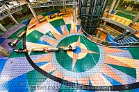 Tiled floor at International Village in Vancouver. BC, Canada