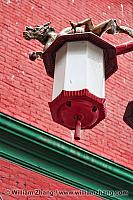 Dragon on Chinatown street light in Vancouver. BC, Canada