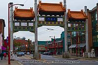 Millennium Gate in Vancouver Chinatown. BC, Canada