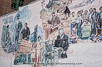 Chinatown mural on Pender Street in Vancouver. BC, Canada