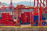 Containers and cranes in Vancouver. British Columbia, Canada