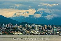 View of North Vancouver across harbour waters. BC, Canada