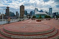 Plaza on rooftop of Canada Place in Vancouver. BC, Canada