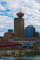 Harbour Centre Tower and Waterfront Station in Vancouver, BC
