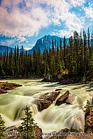 Kicking Horse River at Yoho National Park. British Columbia