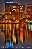 Reflections from buildings along Lake Merritt. Oakland, CA