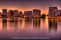 Lake Merritt twilight reflections. Oakland, CA