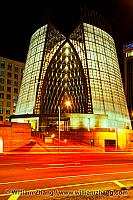 Cathedral of Christ the Light at night. Oakland, CA