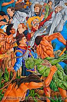 Conflict on The Ohlone Mural near Piedmont Avenue. Oakland, CA
