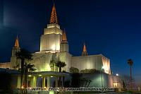 Night illumination at LDS Temple. Oakland, CA