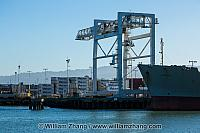 Freighter Lurline at Matson terminal at port. Oakland, CA
