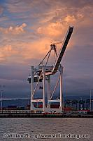 Extra large container crane at port. Oakland, CA