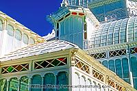 Victorian architecture of Conservatory of Flowers. San Francisco