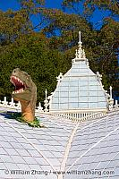 Dinosaur at the Conservatory of Flowers. San Francisco, CA
