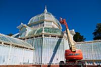 Window washing at Conservatory of Flowers. San Francisco, CA